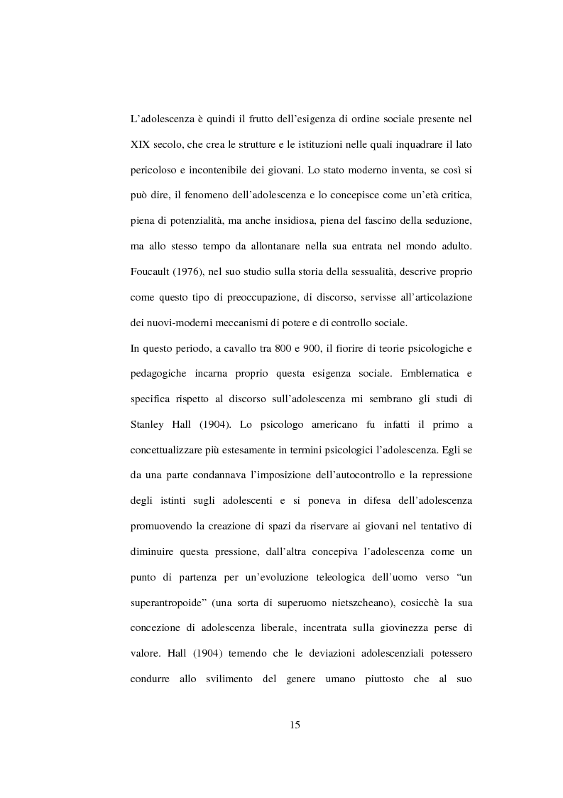 Anteprima della tesi: Postmodernità: adolescenza e nuove forme psicopatologiche - Riflessioni sul carattere sovversivo della psicoanalisi, Pagina 5
