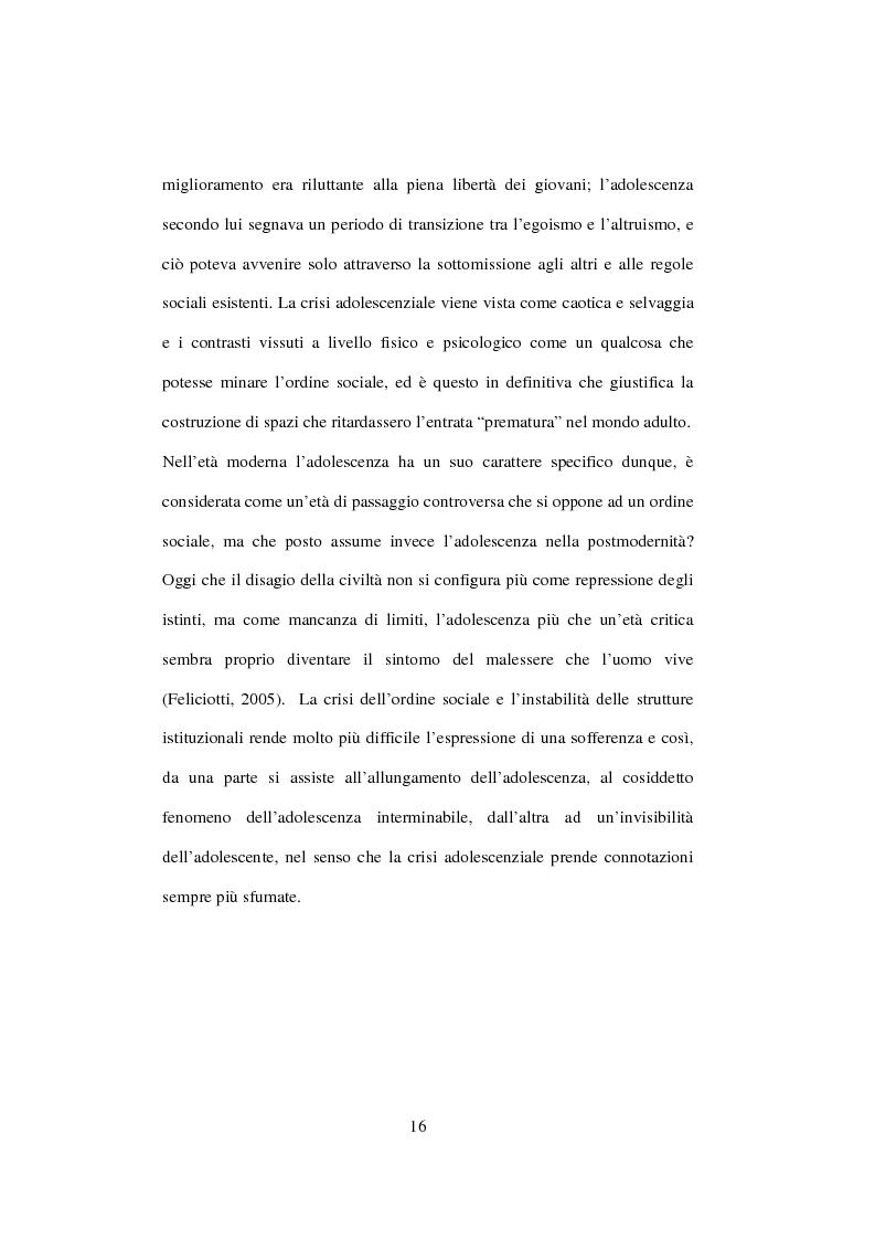 Anteprima della tesi: Postmodernità: adolescenza e nuove forme psicopatologiche - Riflessioni sul carattere sovversivo della psicoanalisi, Pagina 6