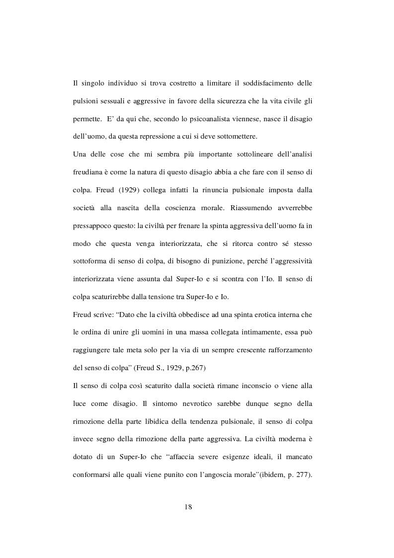 Anteprima della tesi: Postmodernità: adolescenza e nuove forme psicopatologiche - Riflessioni sul carattere sovversivo della psicoanalisi, Pagina 8