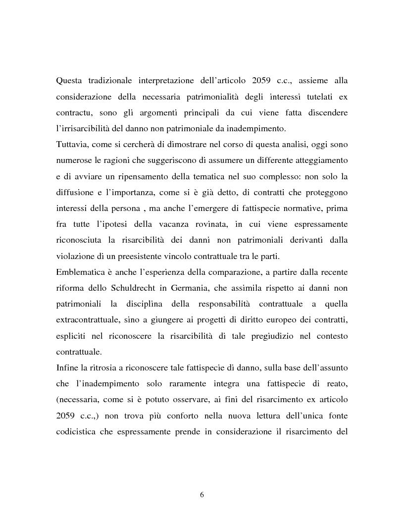 Anteprima della tesi: Il danno non patrimoniale da inadempimento, Pagina 2