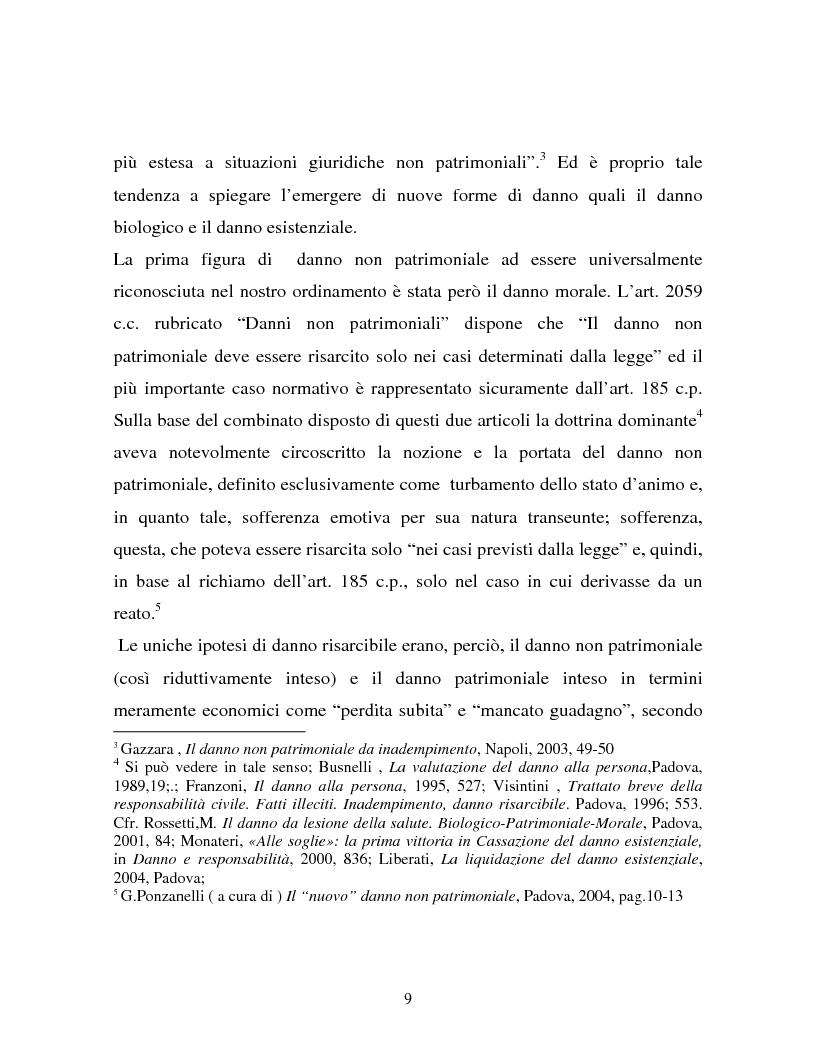 Anteprima della tesi: Il danno non patrimoniale da inadempimento, Pagina 5