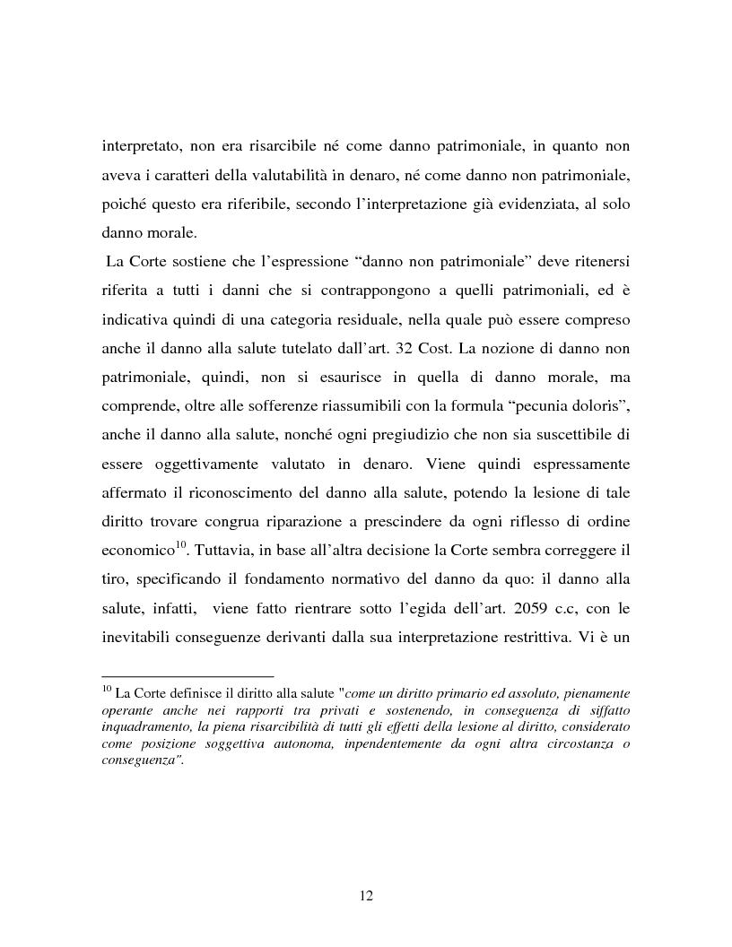 Anteprima della tesi: Il danno non patrimoniale da inadempimento, Pagina 8