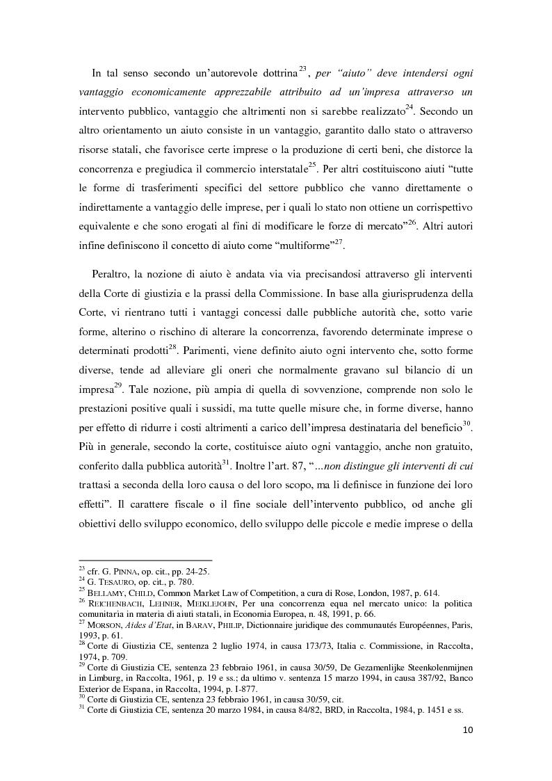 Anteprima della tesi: Gli aiuti di stato in materia fiscale, Pagina 10