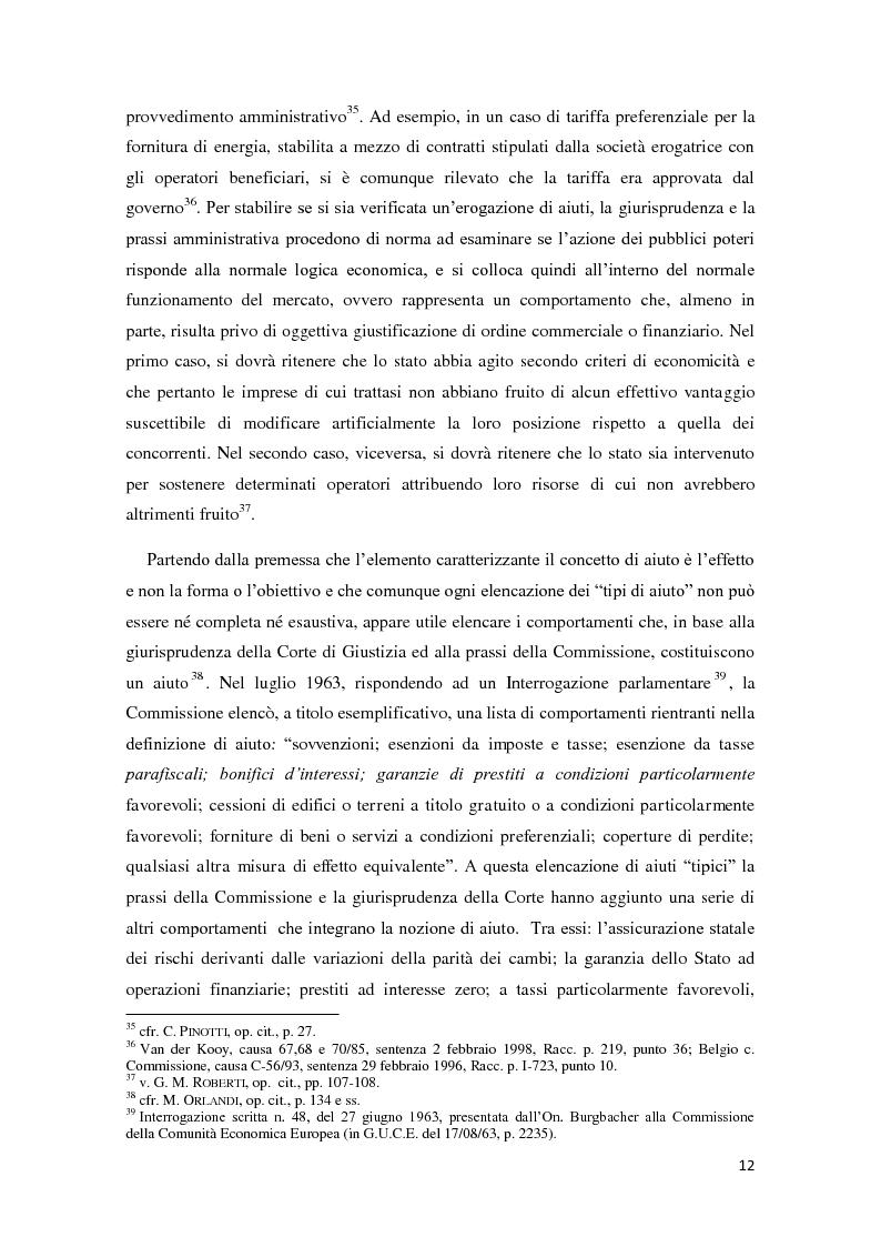Anteprima della tesi: Gli aiuti di stato in materia fiscale, Pagina 12