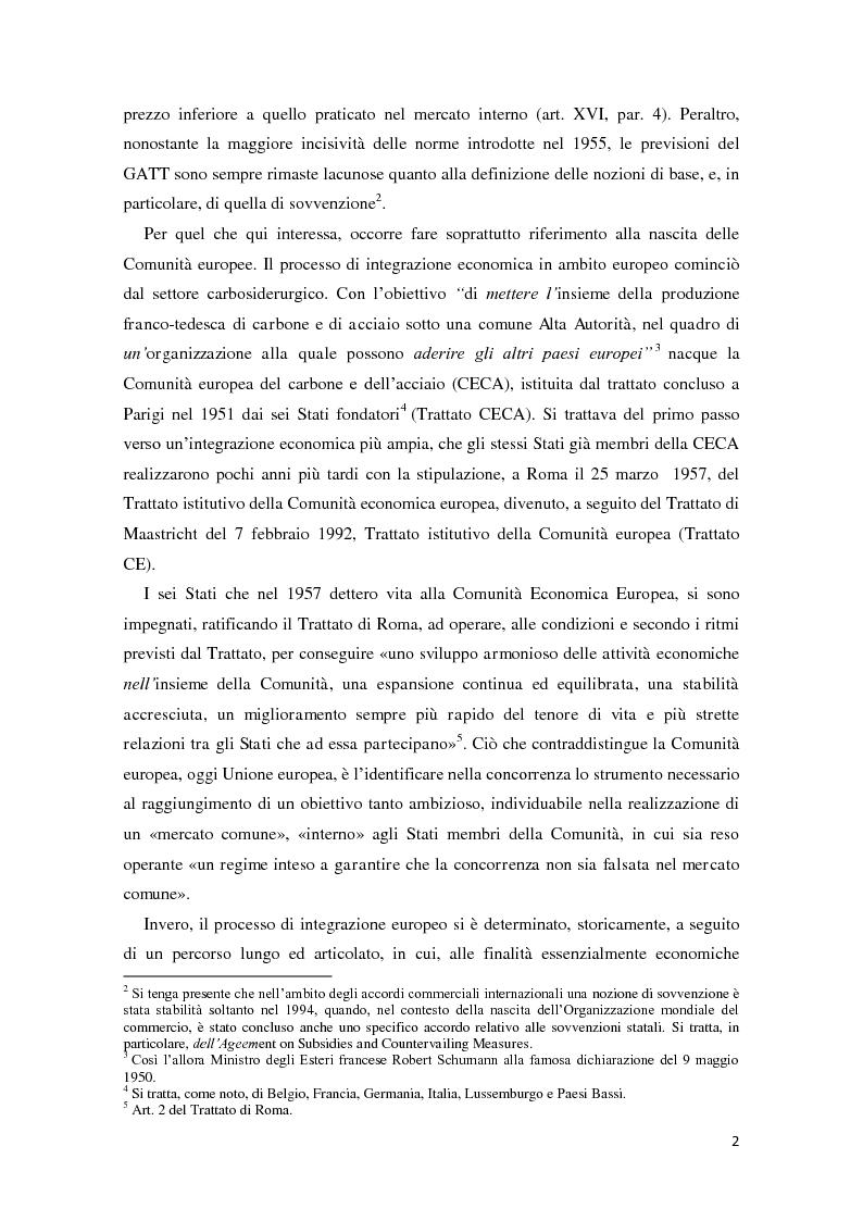 Anteprima della tesi: Gli aiuti di stato in materia fiscale, Pagina 2