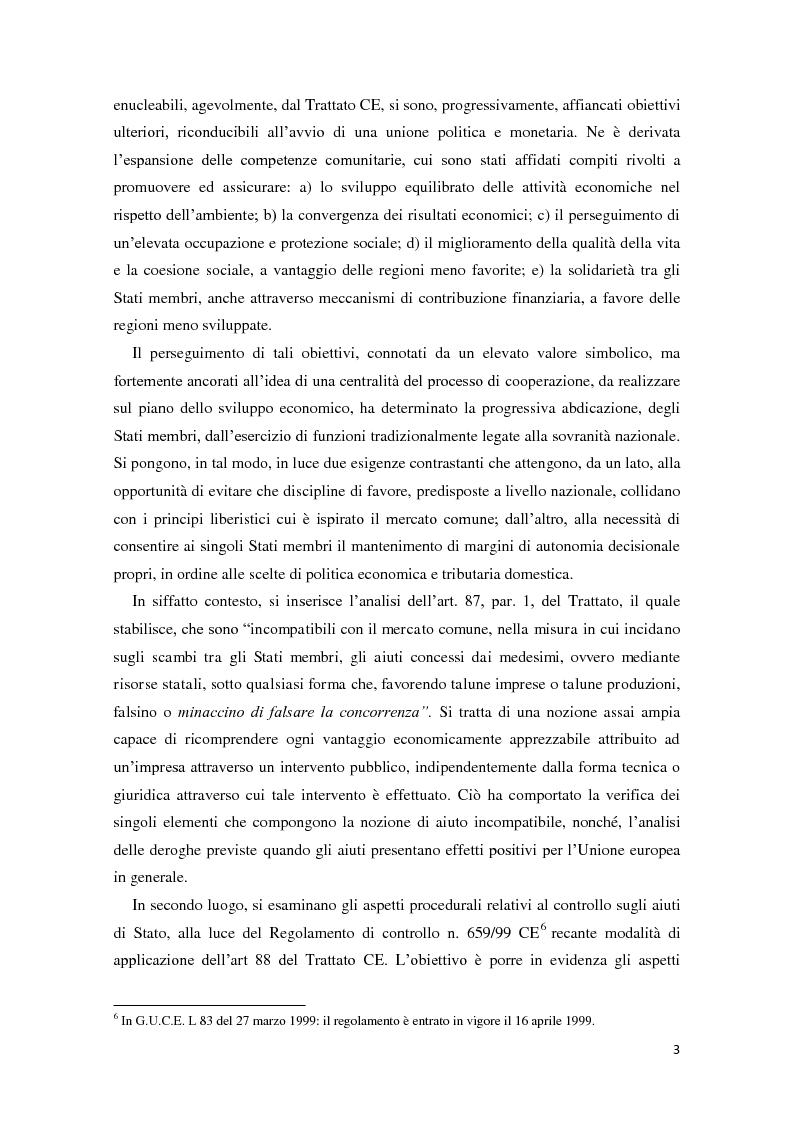 Anteprima della tesi: Gli aiuti di stato in materia fiscale, Pagina 3