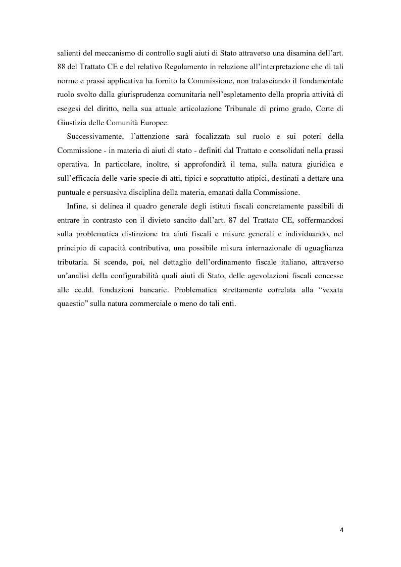 Anteprima della tesi: Gli aiuti di stato in materia fiscale, Pagina 4