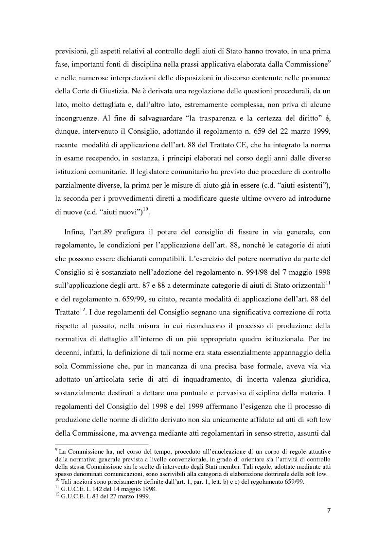 Anteprima della tesi: Gli aiuti di stato in materia fiscale, Pagina 7