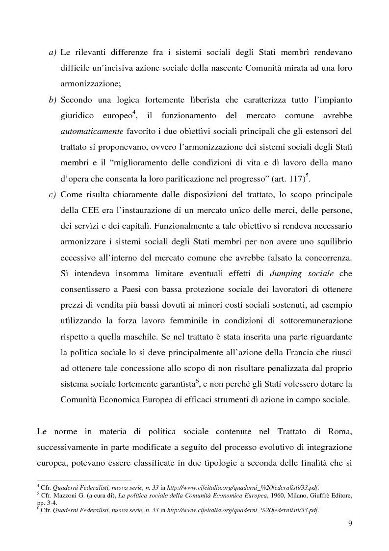 Anteprima della tesi: Lavoro a tempo determinato fra vincoli comunitari e disciplina interna: problemi aperti, Pagina 5