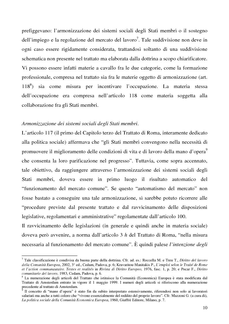 Anteprima della tesi: Lavoro a tempo determinato fra vincoli comunitari e disciplina interna: problemi aperti, Pagina 6
