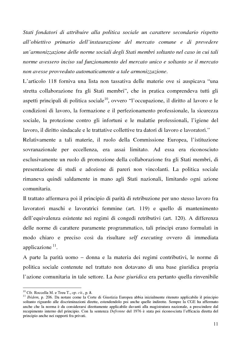 Anteprima della tesi: Lavoro a tempo determinato fra vincoli comunitari e disciplina interna: problemi aperti, Pagina 7