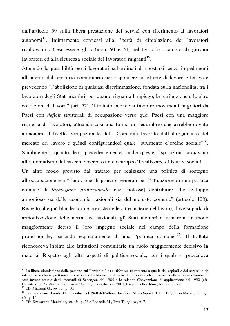Anteprima della tesi: Lavoro a tempo determinato fra vincoli comunitari e disciplina interna: problemi aperti, Pagina 9