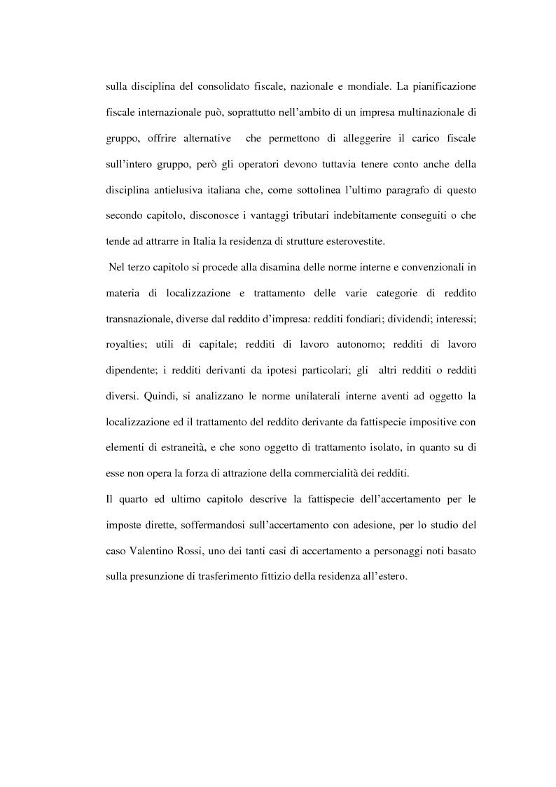 Anteprima della tesi: La tassazione dei soggetti non residenti, Pagina 3