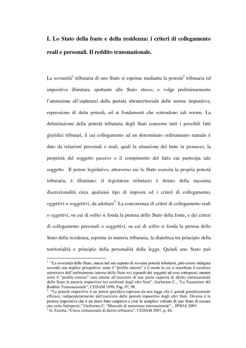 Anteprima della tesi: La tassazione dei soggetti non residenti, Pagina 5