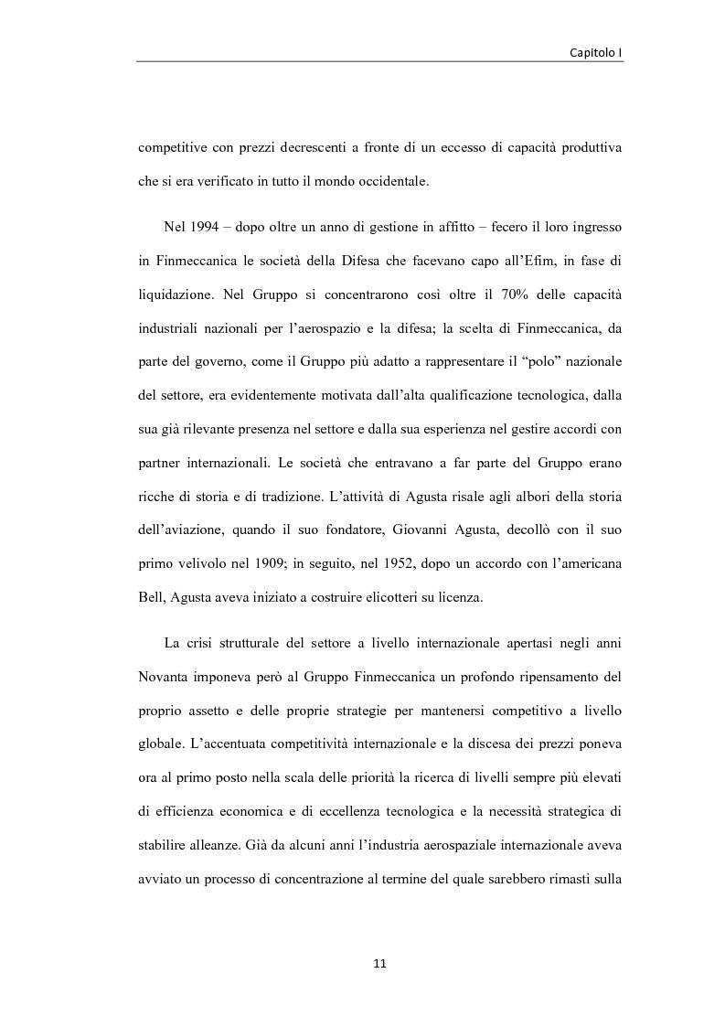 Anteprima della tesi: L'industria aerospaziale in Italia: un'analisi geografica, Pagina 11