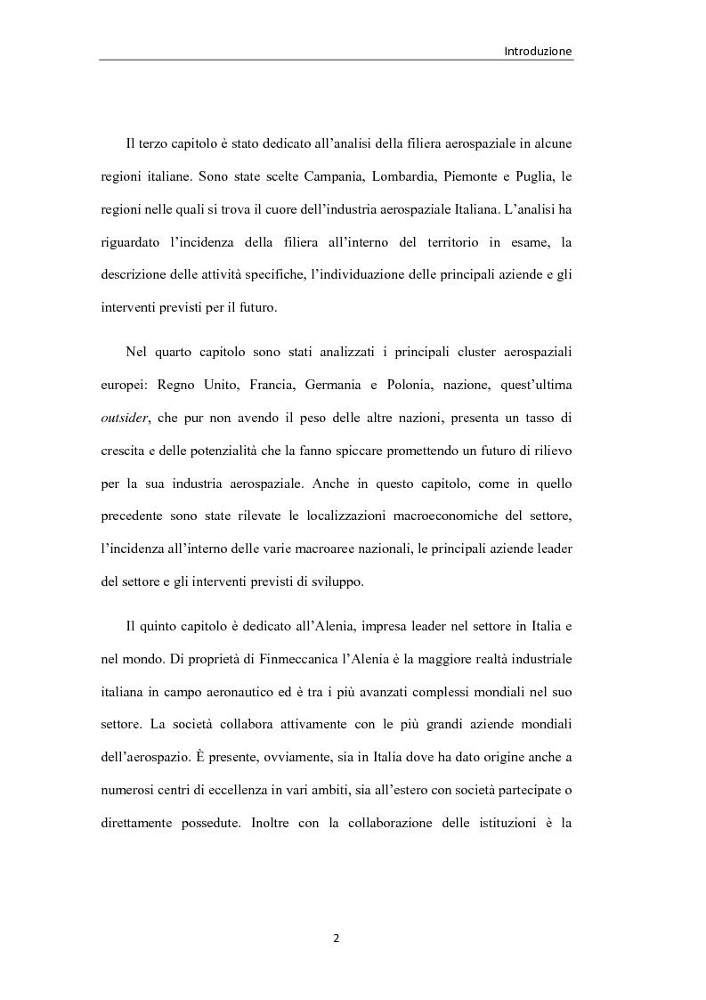 Anteprima della tesi: L'industria aerospaziale in Italia: un'analisi geografica, Pagina 2