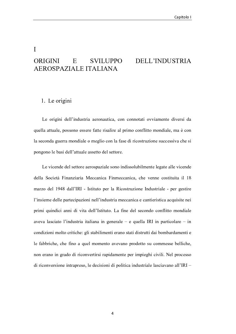 Anteprima della tesi: L'industria aerospaziale in Italia: un'analisi geografica, Pagina 4