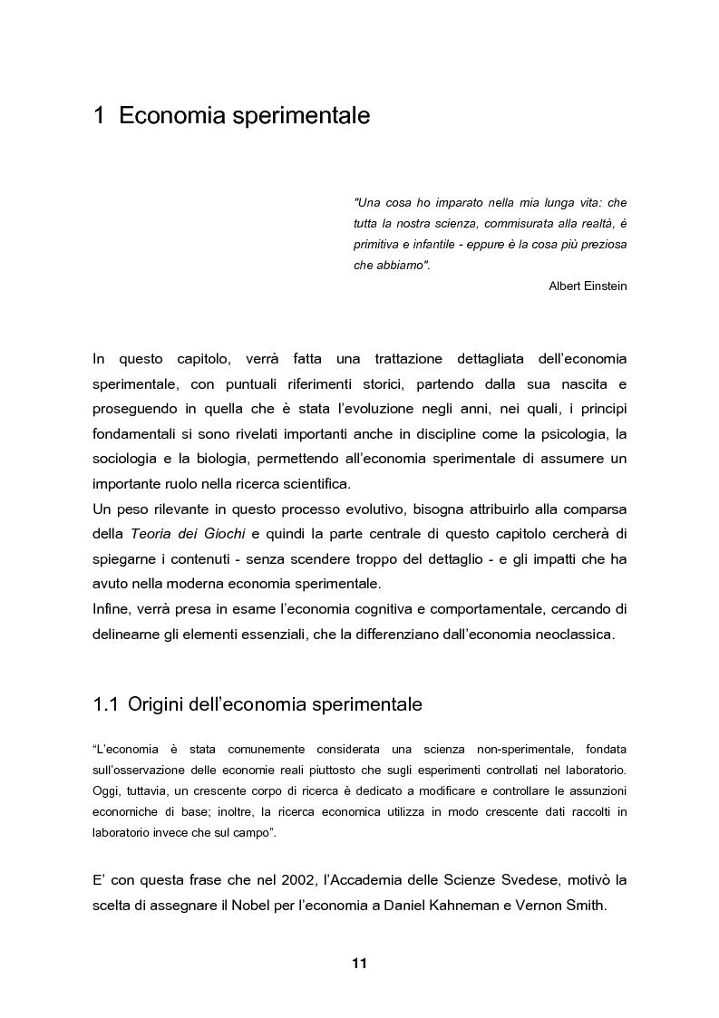 Anteprima della tesi: Analisi e validazione secondo i principi dell'economia sperimentale di un gioco di contrattazione online: Win Win Manager, Pagina 4
