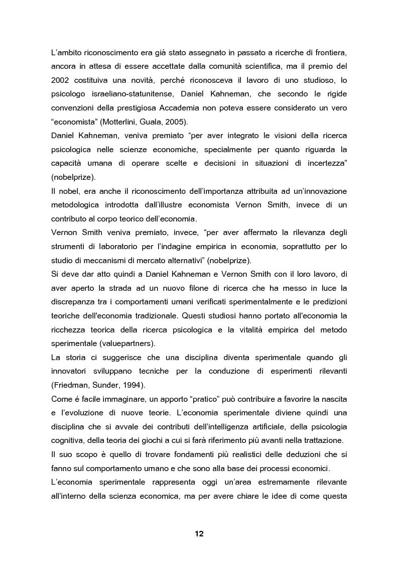 Anteprima della tesi: Analisi e validazione secondo i principi dell'economia sperimentale di un gioco di contrattazione online: Win Win Manager, Pagina 5