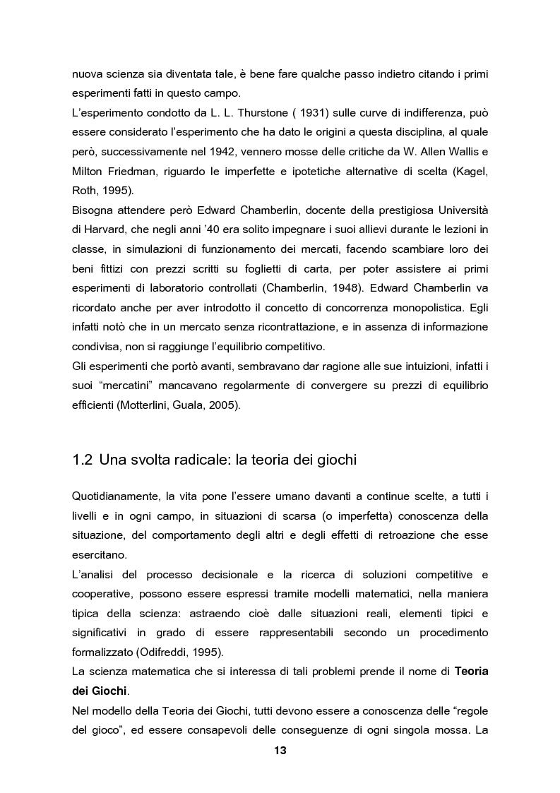Anteprima della tesi: Analisi e validazione secondo i principi dell'economia sperimentale di un gioco di contrattazione online: Win Win Manager, Pagina 6