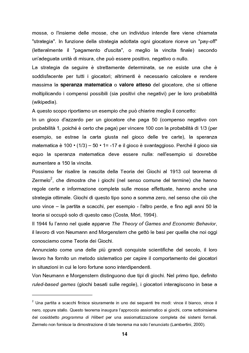Anteprima della tesi: Analisi e validazione secondo i principi dell'economia sperimentale di un gioco di contrattazione online: Win Win Manager, Pagina 7