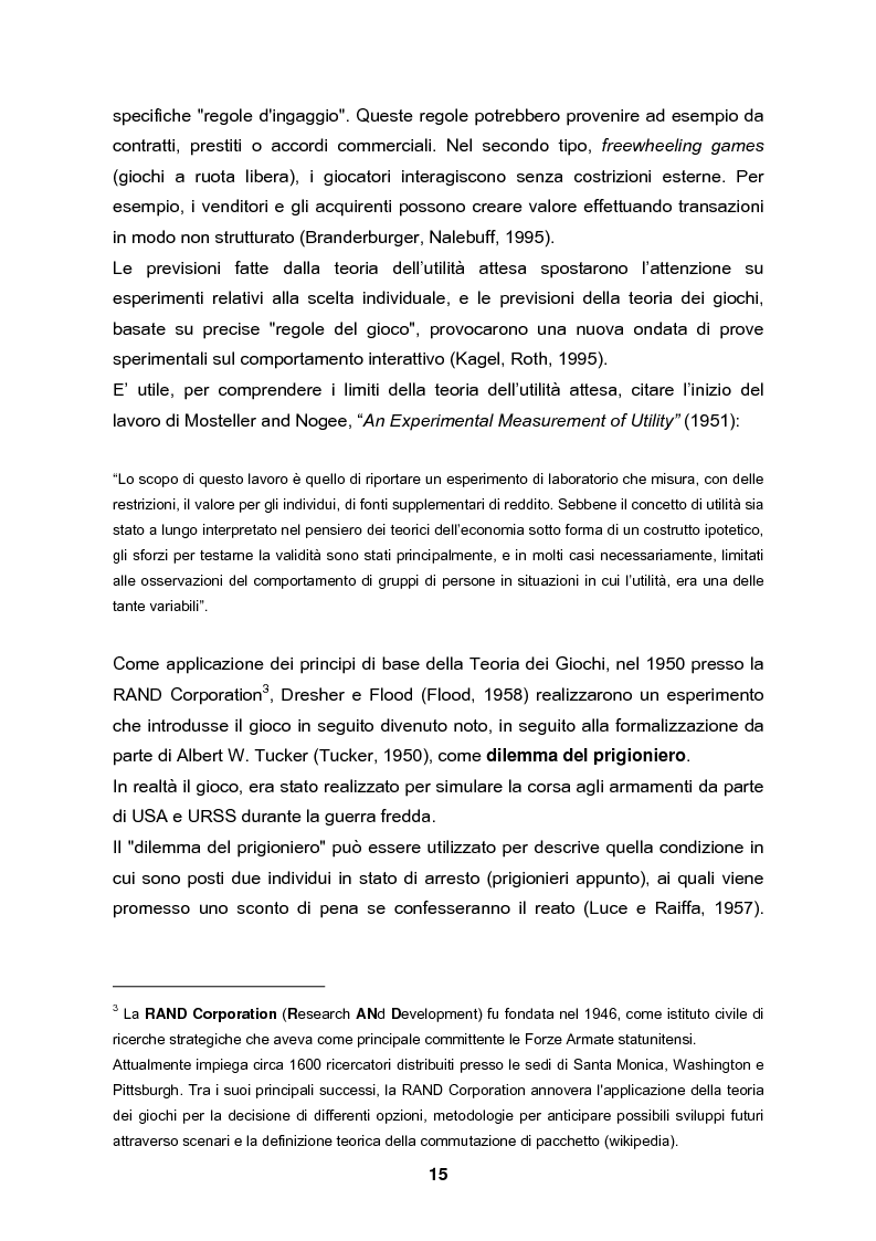 Anteprima della tesi: Analisi e validazione secondo i principi dell'economia sperimentale di un gioco di contrattazione online: Win Win Manager, Pagina 8