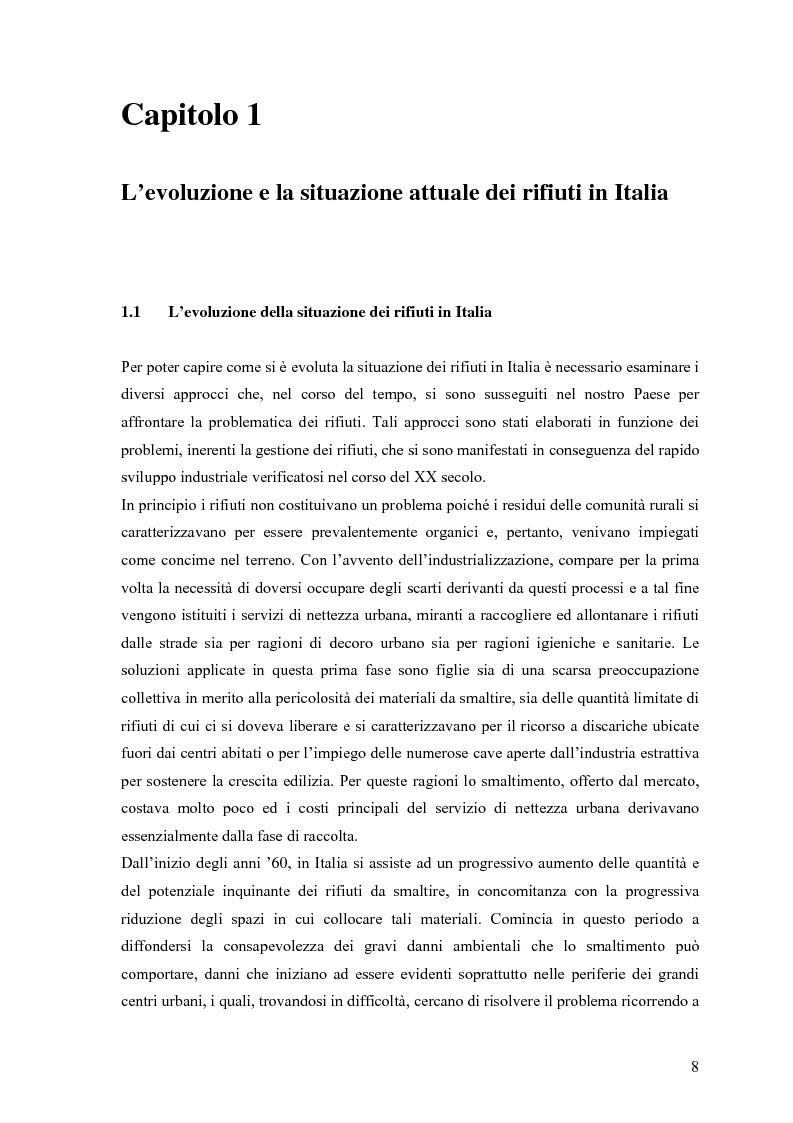 Anteprima della tesi: Il combustibile derivato dai rifiuti ed il suo utilizzo nell'industria del cemento, Pagina 1