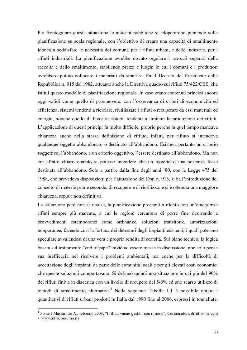 Anteprima della tesi: Il combustibile derivato dai rifiuti ed il suo utilizzo nell'industria del cemento, Pagina 3