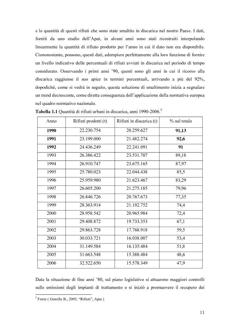 Anteprima della tesi: Il combustibile derivato dai rifiuti ed il suo utilizzo nell'industria del cemento, Pagina 4