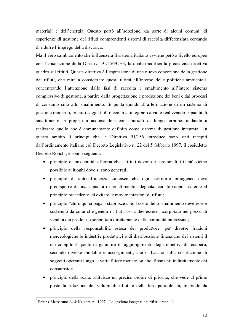 Anteprima della tesi: Il combustibile derivato dai rifiuti ed il suo utilizzo nell'industria del cemento, Pagina 5