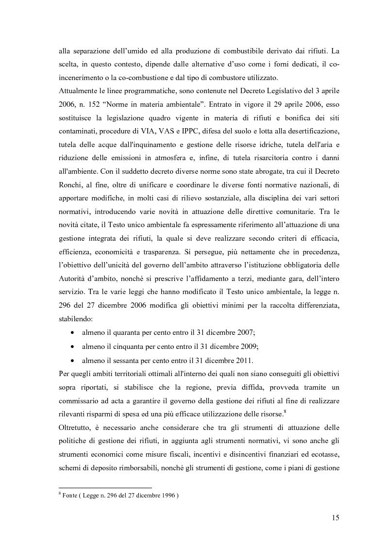 Anteprima della tesi: Il combustibile derivato dai rifiuti ed il suo utilizzo nell'industria del cemento, Pagina 8