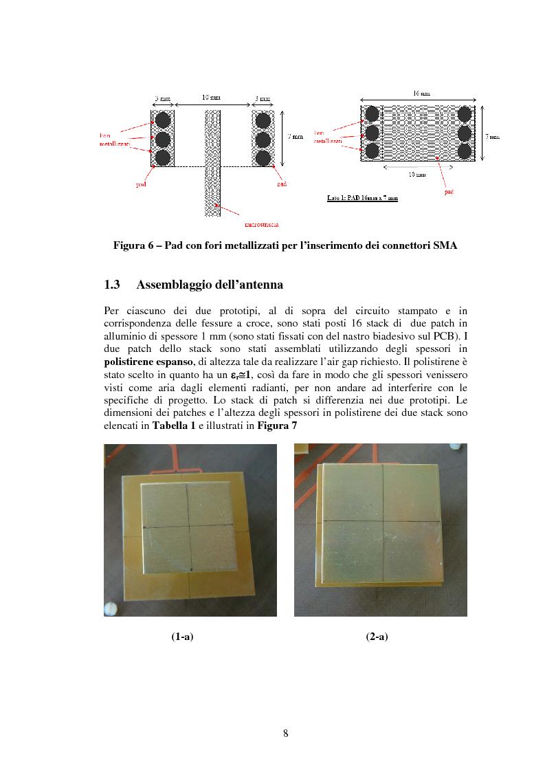 Anteprima della tesi: Misure su un prototipo di array di antenne in microstriscia per applicazioni UMTS, Pagina 8