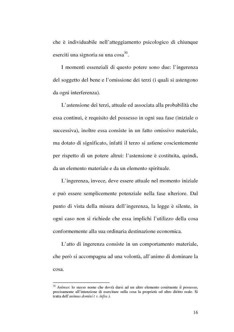 Anteprima della tesi: Lesione del possesso e perdita di chanches, Pagina 12
