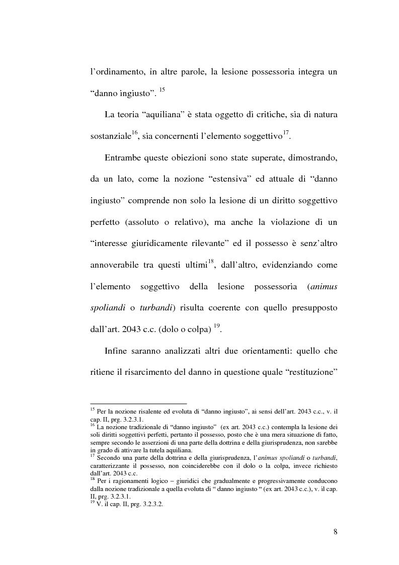 Anteprima della tesi: Lesione del possesso e perdita di chanches, Pagina 4