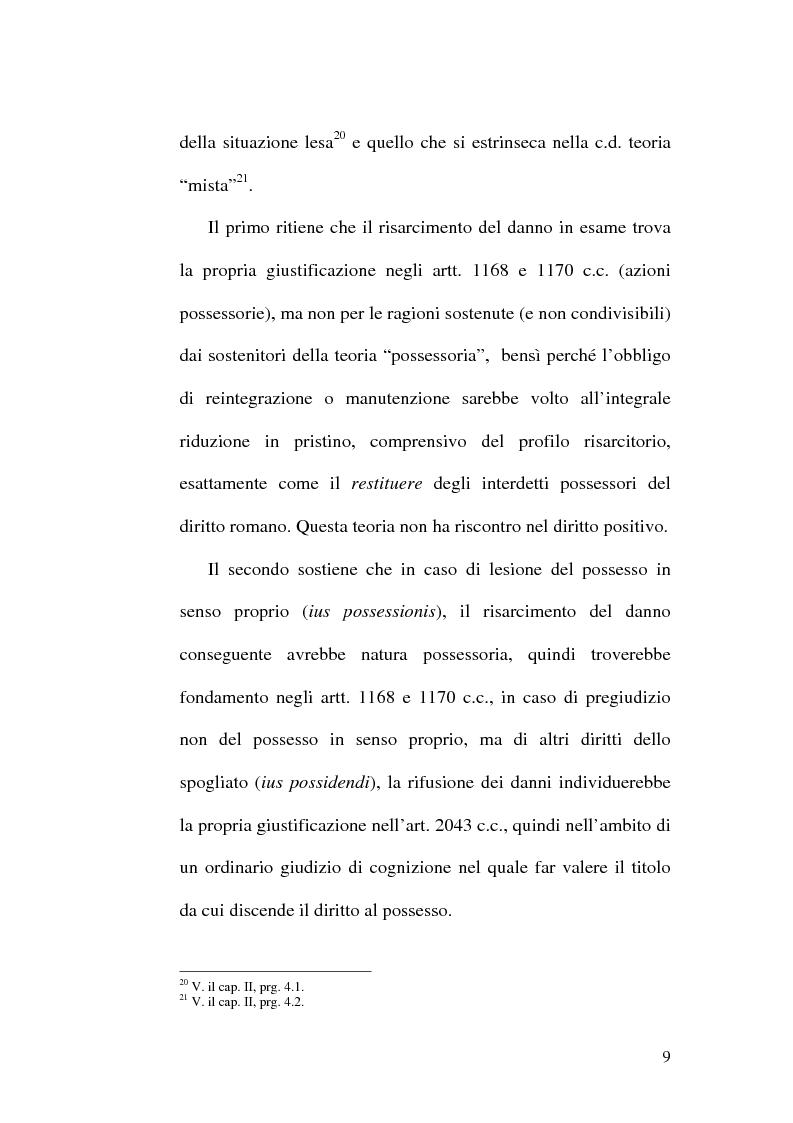 Anteprima della tesi: Lesione del possesso e perdita di chanches, Pagina 5