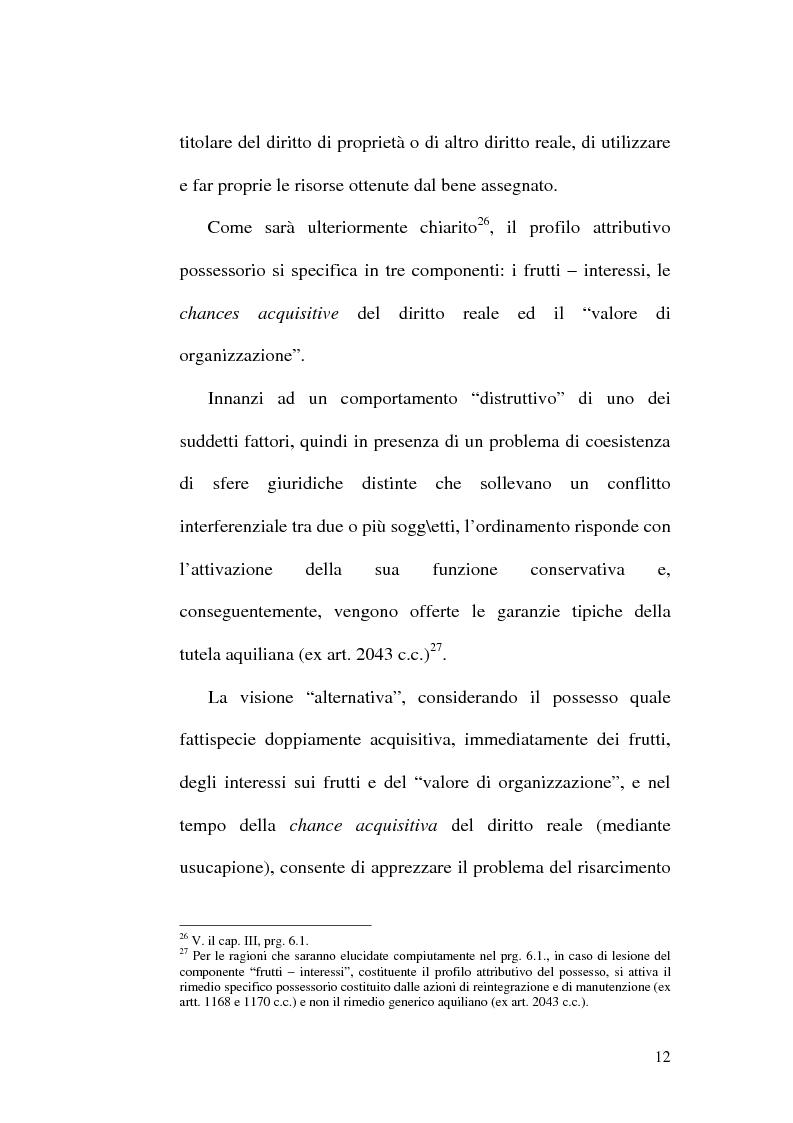 Anteprima della tesi: Lesione del possesso e perdita di chanches, Pagina 8