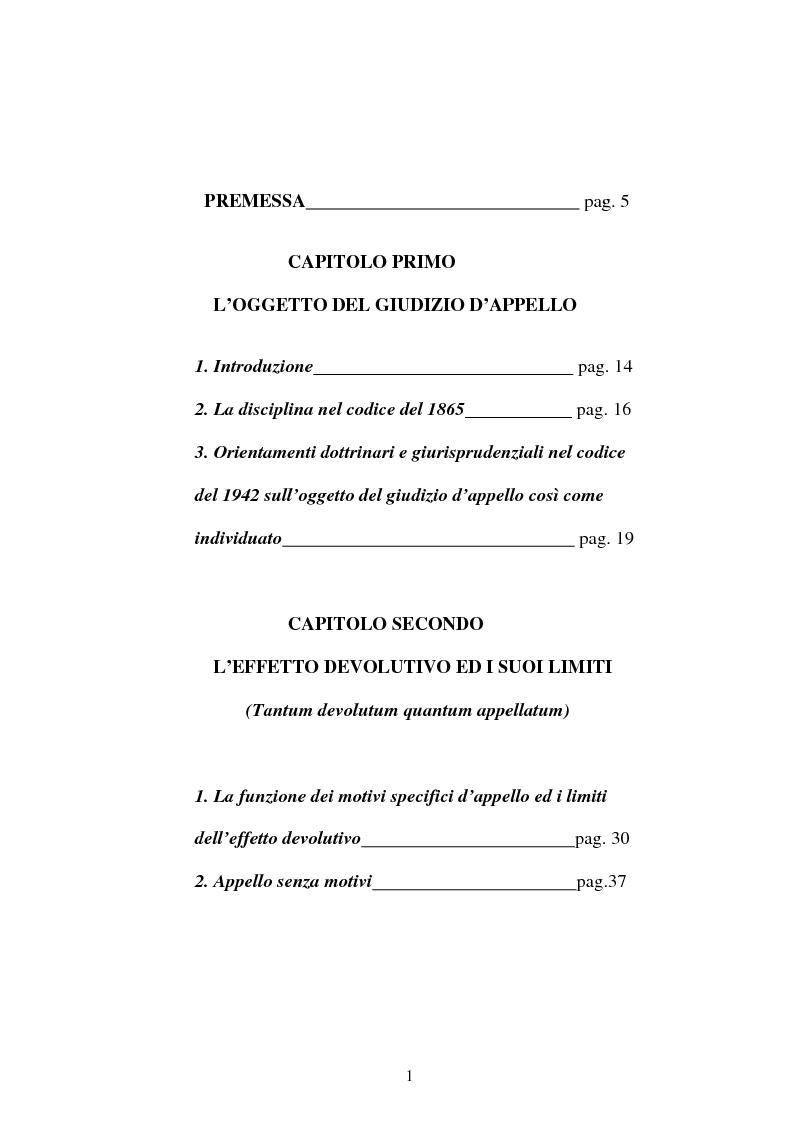 Indice della tesi: Onere della riproposizione ex art 346 c.p.c., Pagina 1