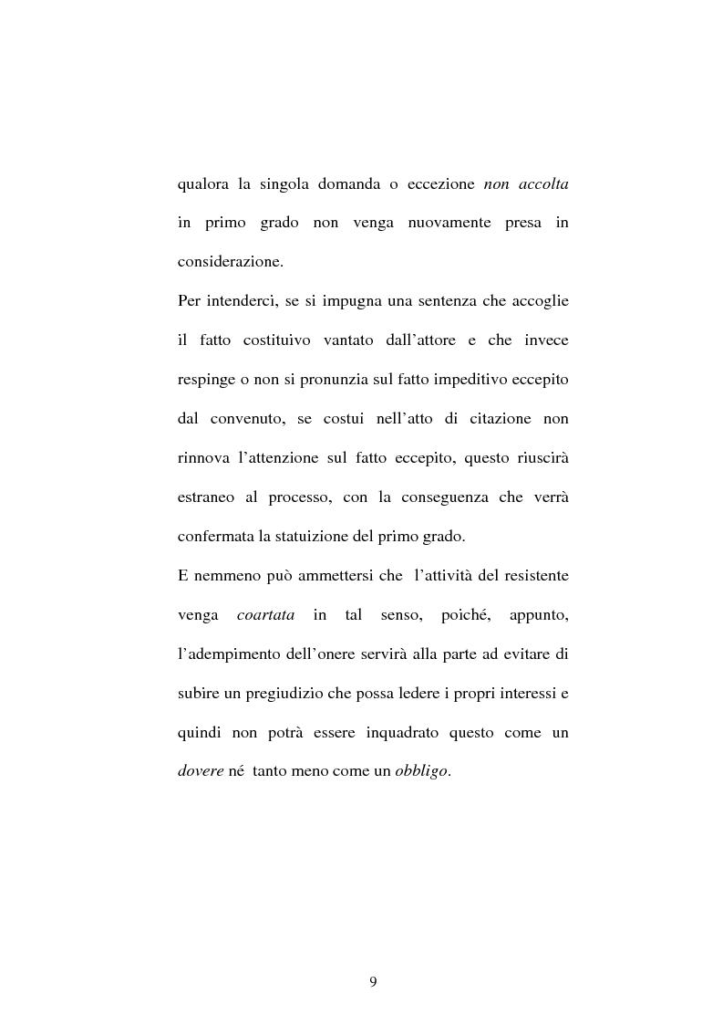 Anteprima della tesi: Onere della riproposizione ex art 346 c.p.c., Pagina 5