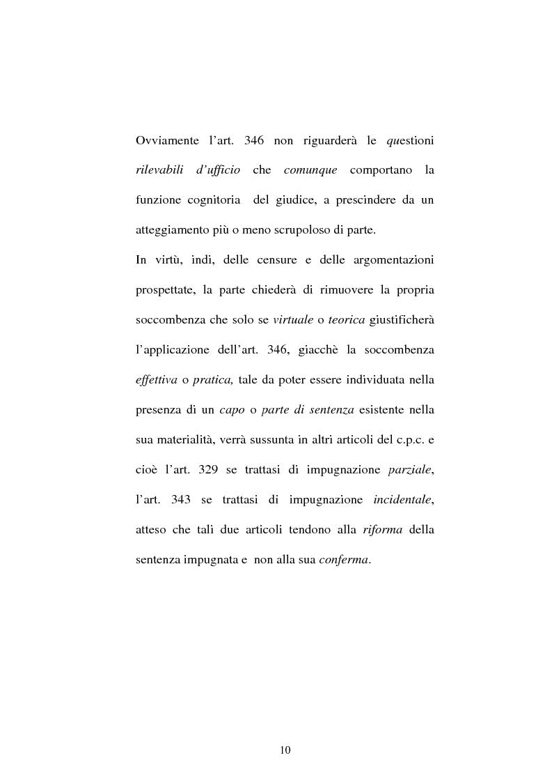 Anteprima della tesi: Onere della riproposizione ex art 346 c.p.c., Pagina 6
