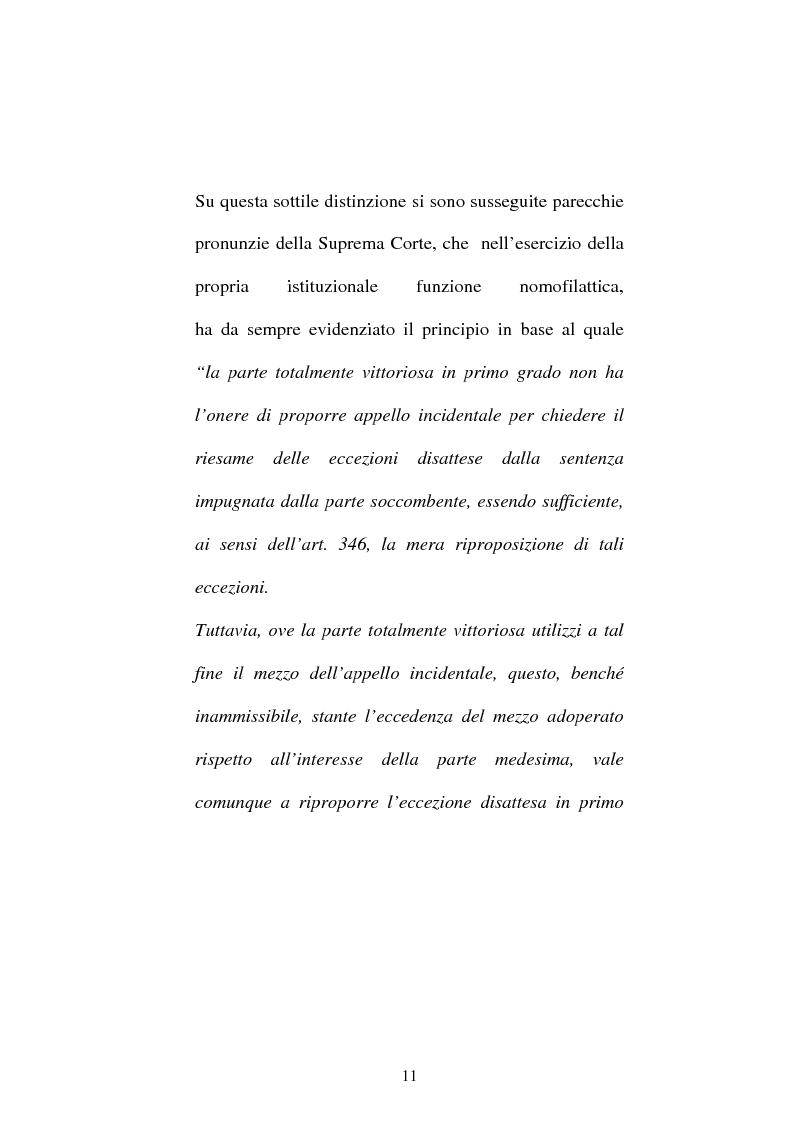 Anteprima della tesi: Onere della riproposizione ex art 346 c.p.c., Pagina 7