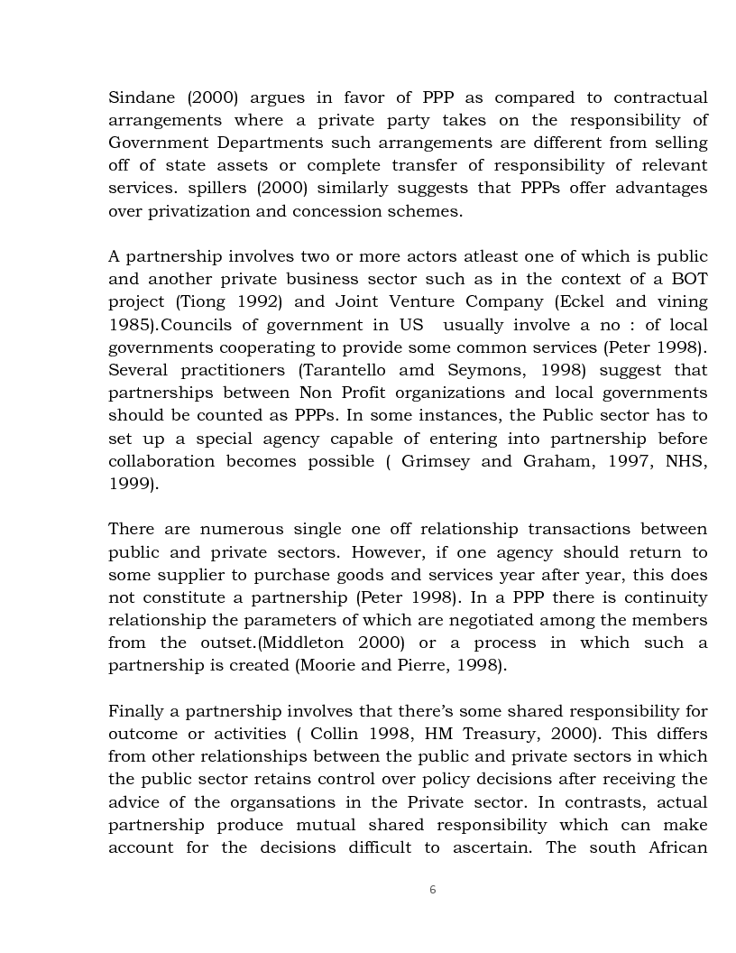 Anteprima della tesi: Public Private Partnership: an Overview, Pagina 4