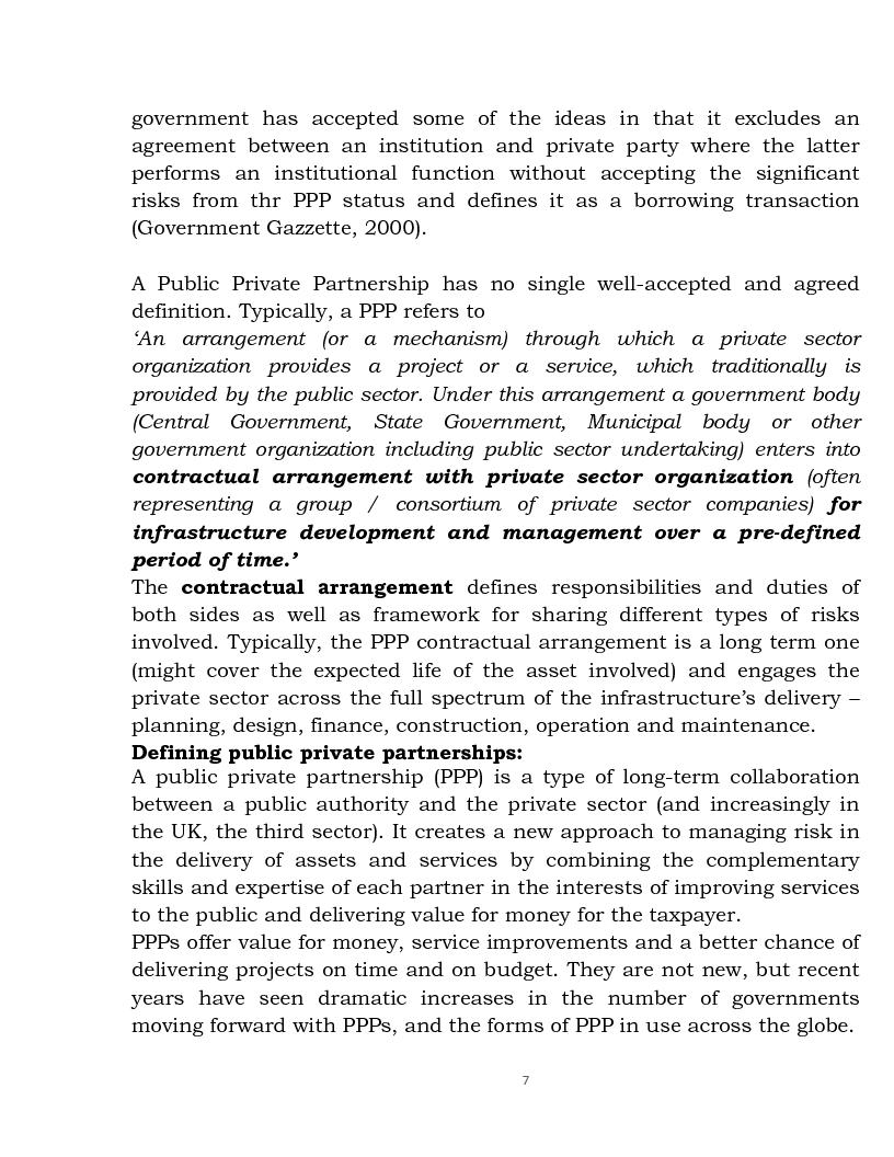 Anteprima della tesi: Public Private Partnership: an Overview, Pagina 5