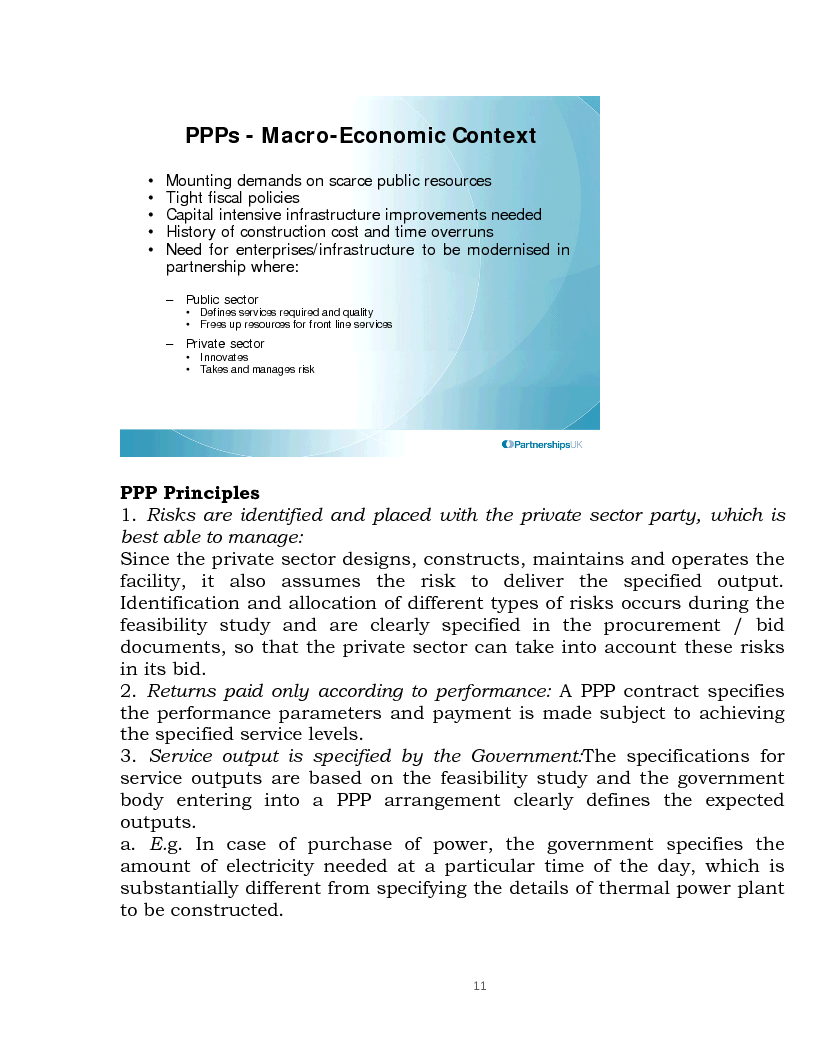 Anteprima della tesi: Public Private Partnership: an Overview, Pagina 9