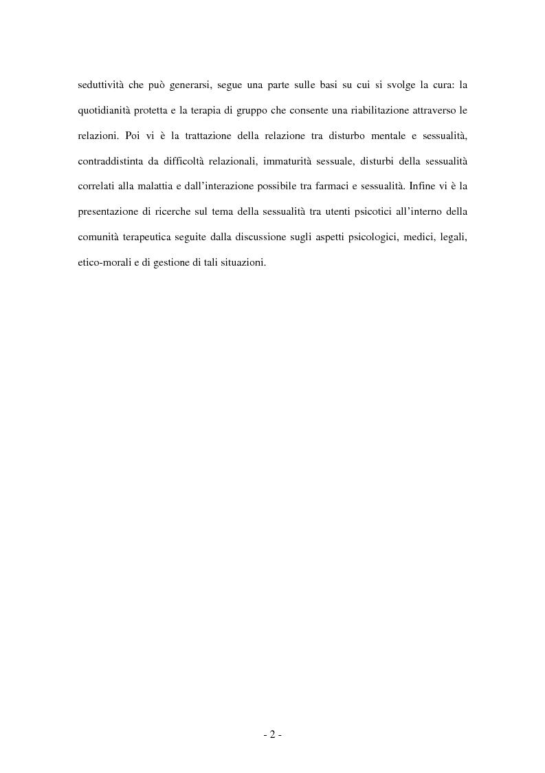 Anteprima della tesi: Il lavoro d'équipe e la gestione della sessualità nella comunità terapeutica psichiatrica, Pagina 2