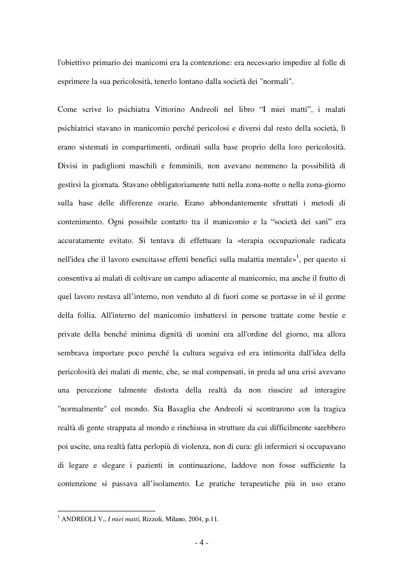 Anteprima della tesi: Il lavoro d'équipe e la gestione della sessualità nella comunità terapeutica psichiatrica, Pagina 4