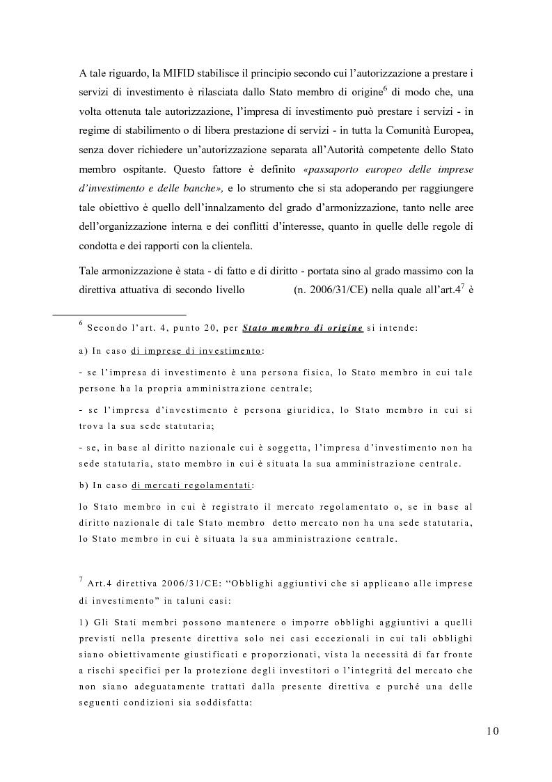 Anteprima della tesi: La riorganizzazione delle banche per l'applicazione della Mifid, Pagina 11