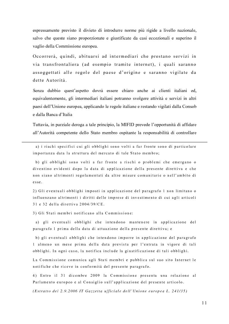 Anteprima della tesi: La riorganizzazione delle banche per l'applicazione della Mifid, Pagina 12