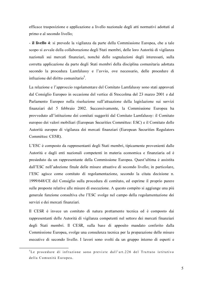 Anteprima della tesi: La riorganizzazione delle banche per l'applicazione della Mifid, Pagina 6