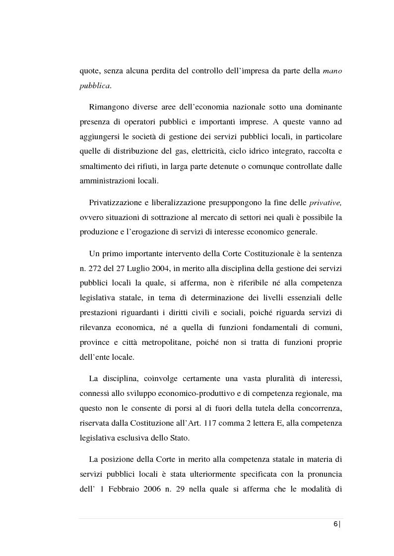 Anteprima della tesi: La regolamentazione dei servizi pubblici locali: il servizio di gestione dei rifiuti nella Regione Sicilia. L'analisi contabile di una società d'ambito., Pagina 2