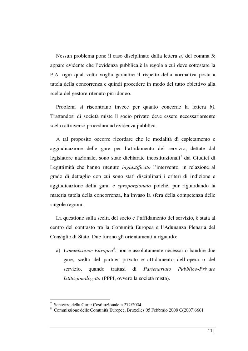 Anteprima della tesi: La regolamentazione dei servizi pubblici locali: il servizio di gestione dei rifiuti nella Regione Sicilia. L'analisi contabile di una società d'ambito., Pagina 7